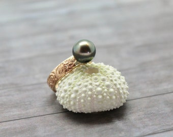 Tahitian Pearl Heirloom Ring