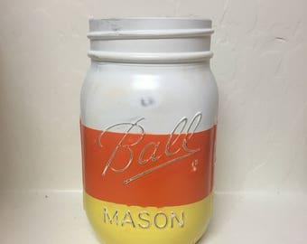 Fall candy mason jar