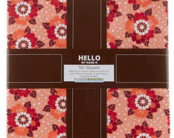 "Robert Kaufman - Rhoda Ruth Ten Squares/Layer Cake by Elizabeth Hartman - 42, 10"" Precut Fabric Squares"