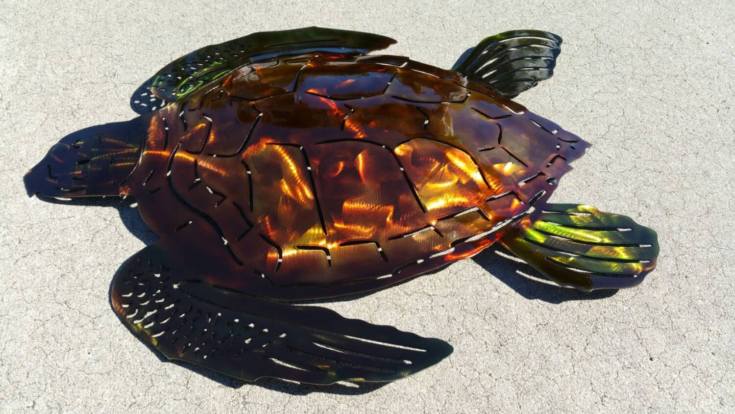 Very best 22 Sea Turtle Wall Art, Sea Turtle Metal Art, Hand Hammered, Hand  LS23
