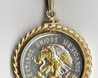 "Necklace - Gorgeous 2-Toned ""Gold & Silver"" Mexican Eagle ,  Coin Necklaces"