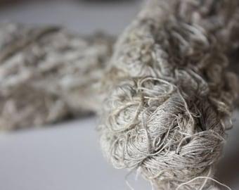 Chunky Recycled Handspun Natural Linen
