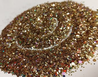 Treasure Chest - Mainly Gold Glitter Mix with a multitude of Jewel tones