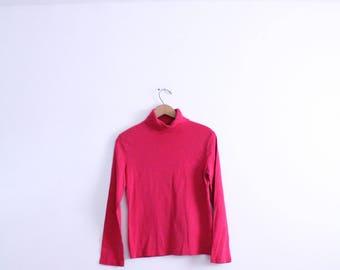 Hot Pink 90s Turtleneck Shirt