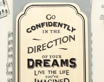 Direction of your Dreams Wooden Plaque