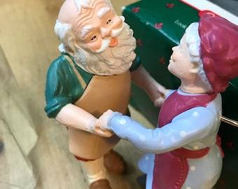 Hallmark Vintage Collectible Ornament - Mr. Santa Claus and Mrs. Claus - shall we dance