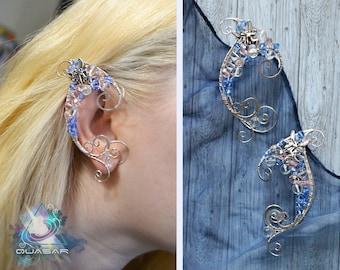 """Elven ear cuffs """"Fairy"""" / elvish, elven ears, elf ear cuffs, fairy cuff, LOTR, magic fantasy jewelry, wire ear cuffs, elven wedding"""