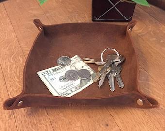 Full grain leather Key Caddy