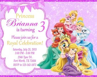 Princess Palace Pets Invitation, Princess Palace Pets Birthday, Princess Palace Pets Party