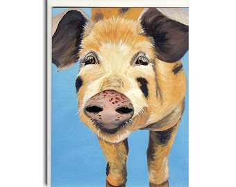 Pig Notecards - Pig Cards - Farm Animal Stationery