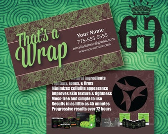 It Works Business Card, Chocolate Mint ,Printed