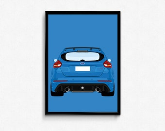 Ford Focus RS A3 Print