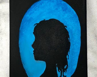 Women's Silhouette Painting