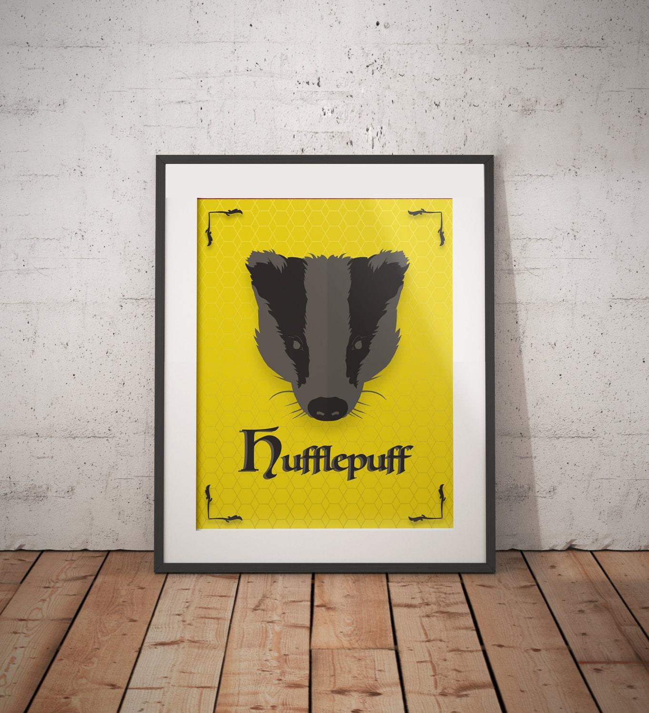 Hufflepuff Poster Hufflepuff Print Harry Potter Poster