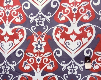 Anna Maria Horner HDAH09 Innocent Crush Home Decor Queen Of Hearts Steel Fabric by yd