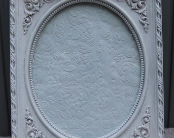 8x10 White Picture Frames, 8 x 10 Oval Frame, Easel Back Frame with Glass, Ornate White Picture Frame, White Wedding Frame, French Nordic