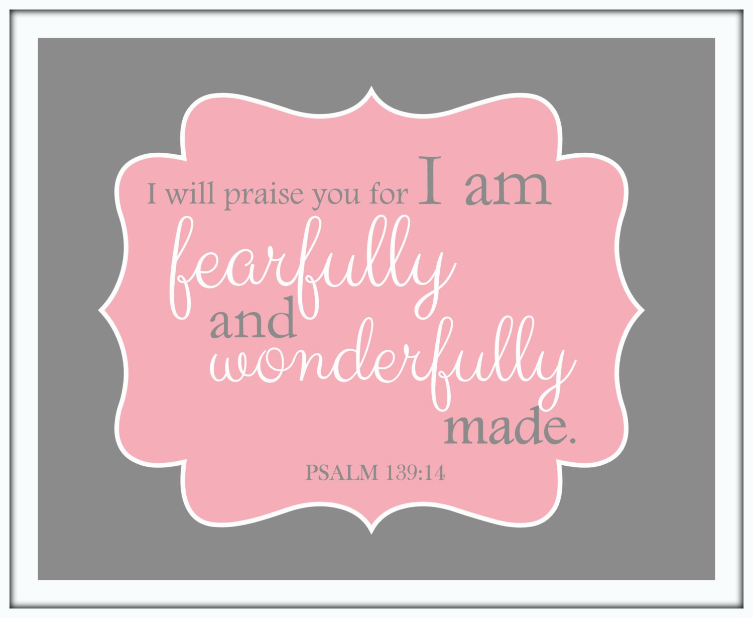 I Am Fearfully And Wonderfully Made Psalm 13914 Christian