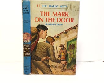 Hollow Book Safe The Hardy Boys The Mark on the Door Cloth Bound vintage Secret Compartment Box Hidden Security Box