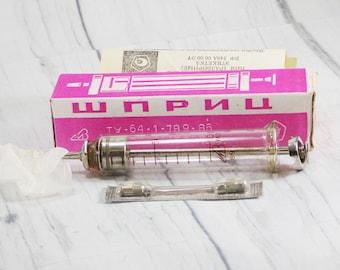 Hospital gift graduation gift old medical gift vintage medical equipment old medical syringe antique syringe medical instrument original box