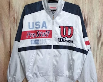 Vintage Wilson USA Pro Staff Jaspo windbreaker Jacket