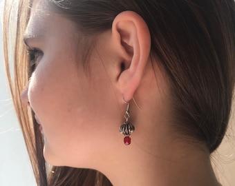 IDA EARRINGS woman Style Nepal, Tibetan silver