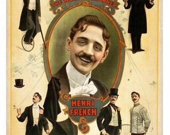 Vaudeville Poster Art and Illustrations - 24-Trading Cards Set