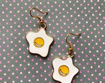 FREE Shipping! Fried Egg Earrings, Sunny Side Up, Funky Earrings, Funky Jewellery, Cute Accessories, Food Jewellery