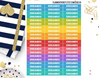 "60 ""Errands"" Section Header Planner Stickers! SB339"
