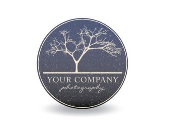 Photography Logo & Watermark - Pre-made for Photographer - Circle Blue Tree