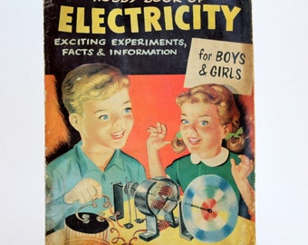 Hobby Book of Electricity for Boys and Girls, Vintage Children's Book, Retro 1950's