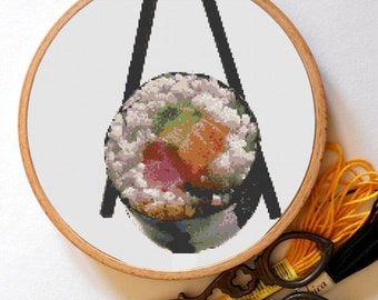 Sushi Cross Stitch Patern