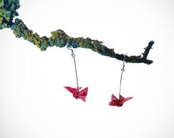 Boucles d'oreilles origami papillon