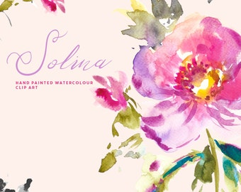 Watercolour Flower Clipart - Solina