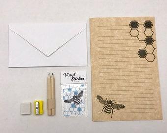 Beee-utiful Bee PenPal Stationery Set - FREE shipping in Canada