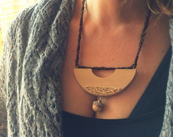 Half Moon Necklace-Jewelry Collection Natural elements