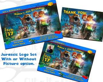 Lego birthday invitations, Jurassic Lego party invitations, Lego invitation, Jurassic invitation, lego birthday