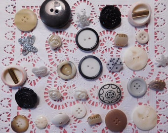 Whimsical Decorative Buttons - 30 of Them