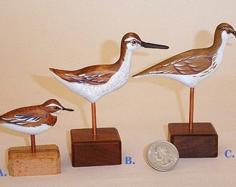Sandpipers - Hand Carved - Miniatures - Hand Painted by Will Kay Studios on Etsy