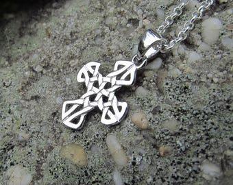 Sterling Silver Celtic Knot Cross Pendant