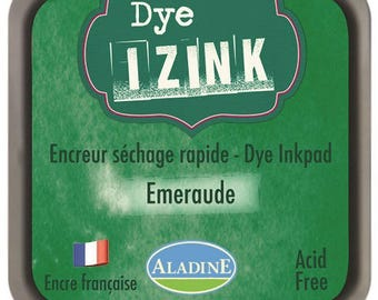 Izink Dye - emerald green pad quick drying