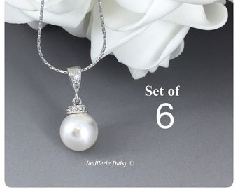 Set of 6 Swarovski Necklace Bridesmaid Gift Bridesmaid Jewelry Gift for Her Necklace Jewelry Wedding Jewelry Gift for Her Bridesmaid Gift