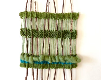 Handwoven wall hanging - forest