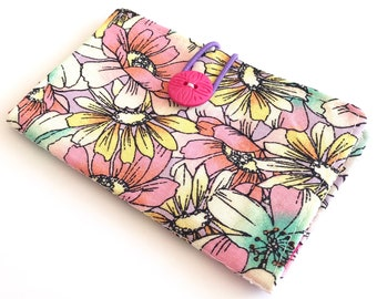 Fabric Card Holder - Pink Flowers