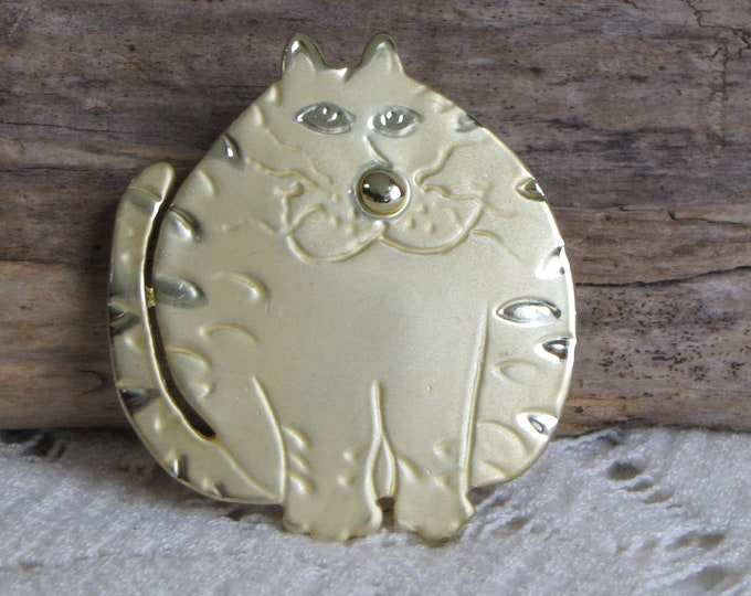 Fat Cat Brooch Vintage Jewelry and Accessories