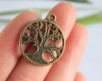 Own Charm~~ Bronze tree charm Tibetan tree charm bronze tree of life charm bronze tree charm 24*28mm