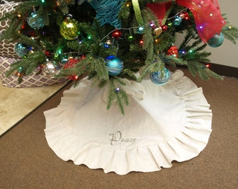 Farmhouse tree skirt Etsy