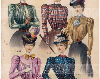 Antique Advertising / Advertising Page / Digital Instant Download / Paper Ephemera / Ladies Fashion / Victorian Fashion / Womens Fashion