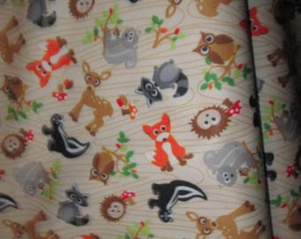 Fabric, pul, Fox, owl, fabric for diaper pul beige background