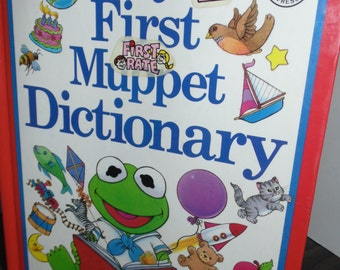 Vintage 1988 My First Muppet Dictionary Book hardcover Illustrated