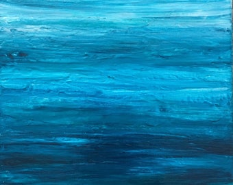 Blue Painting, Abstract Ocean Painting, Seascape Abstract, Modern Artwork, Coastal Decor, Modern Ocean Painting, Gallery Wall Art